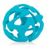 NUBY Kousátko silikonový míč světle modrý 3m+