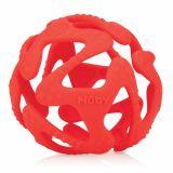 NUBY Kousátko silikonový míč červený 3m+