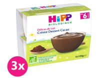 3x HiPP BIO Mléčný dezert kakaový 4x100 g