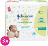 3x JOHNSON'S BABY Cottontouch vlhčené ubrousky 224 ks