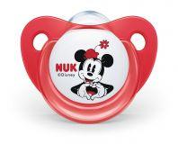 NUK Dudlík Mickey, silikon,V1 (0-6m.) - červený