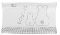 BREVI Podložka prebaľovacia CONFORT mäkká - biely zajačik 45 x 78 cm