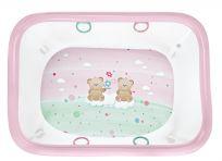 BREVI Ohrádka dětská ROYAL - medvídek růžový 110x80 cm