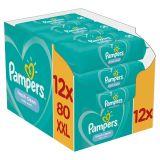 12x PAMPERS Fresh Clean XXL 80 ks - vlhčené obrúsky