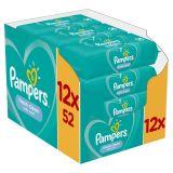 12x PAMPERS Fresh Clean 52 szt. - chusteczki nawilżane