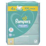 4x PAMPERS Fresh Clean XXL 80 ks - vlhčené ubrousky