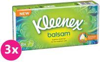 3x KLEENEX Papierové vreckovky Balsam 8 ks