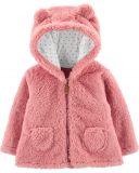 CARTER'S Kabátek s kapucí - růžový, 12m