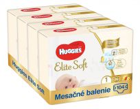 HUGGIES Elite Soft 1 (104 ks) mesačné balenie - jednorazové plienky