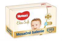 HUGGIES Elite Soft 4 (132 ks) mesačné balenie - jednorazové plienky