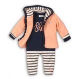 DIRKJE Set 3-dielny B-SO FRESH SHINE 56 Peach - Navy