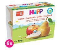6x HIPP BIO jablkový s hruškami (4x100 g) - ovocný příkrm