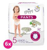 BELLA HAPPY Pants Junior (11-18 kg) 132 ks MĚSÍČNÍ BALENÍ– jenorázové pleny