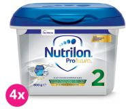 4x NUTRILON 2 Profutura (800 g) - pokračovacie dojčenské mlieko od uk. 6. mesiaca