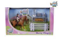 ALLTOYS Hracia sada jazdkyňa s koňom