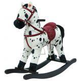 TEDDIES Koník hojdací bieločierny plyš 71cm so zvukom a pohybom