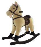 TEDDIES Koník hojdací béžový plyš výška 71cm