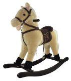 TEDDIES Kůň houpací béžový plyš výška 71 cm