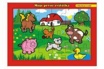 TEDDIES Puzzle doskové Moje prvé zvieratká farma 26x17cm (24 dielikov)