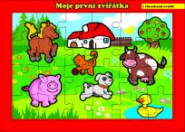 TEDDIES Puzzle deskové Moje první zvířátka farma 24 dílků