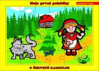 TEDDIES Puzzle deskové O Červené Karkulce 24 dílků - Moje první pohádky