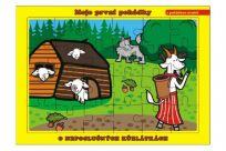 TEDDIES Puzzle doskové O neposlušných kozliatkach (24 dielikov) - Moje prvé rozprávky