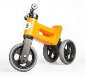 TEDDIES Odrážadlo oranžové Funny Wheels 2v1