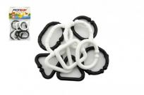 TEDDIES Plastikowy łańcuszek 10 szt. – czarno-biały