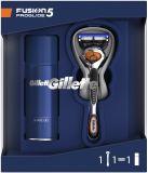 GILLETTE Dárkové Balení Fusion5 ProGlide Holicí strojek + Gel na holení