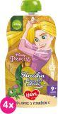 4x HAMI Disney Princess ovocná kapsička Hruška z kouzelné zahrady 110 g, 9+
