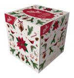 LINTEO Vánoční papírové kapesníky (80 ks) 2 vrstvé bílé