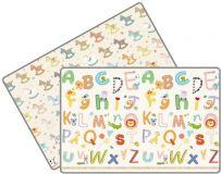 LALALU Podložka na hraní STANDARD, 200 x 150 x 1,5 - Poníci a abeceda
