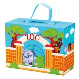 BINO Cestovný kufrík so zvieratkami ZOO