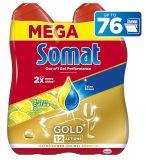 SOMAT Gold Gel Anti-Grease Lemon (2x684 ml) – gel do myčky