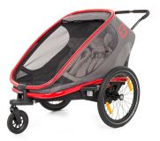HAMAX Outback 2w1 – podwójna przyczepka na rower grey/red/antracit