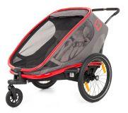 HAMAX Outback 2v1 - double vozík za kolo grey/red/antracit