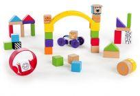 BABY EINSTEIN Drevená stavebnica Curious Creations Kit HAPE 12m+