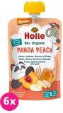 6x HOLLE Panda Peach Bio pyré broskev merunka banán špalda 100g (8+)