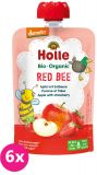 6x HOLLE Red Bee Bio pyré jablko jahody 100g (8+)