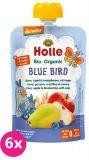 6x HOLLE Blue Bird Bio pyré hruška jablko borůvky vločky 100g (6+)