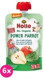 6x HOLLE Power Parrot Bio pyré hruška jablko špenát 100g (6+)