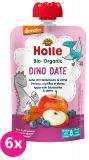 6x HOLLE Dino Date Bio pyré jablko, borůvky a datle, 100 g (6m+)