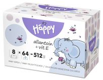 BELLA HAPPY Baby Vlhčené obrúsky s vitamínom E (8x64 ks)
