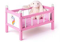 WOODY Postieľka pre bábiku s perinkami - Jednorožec