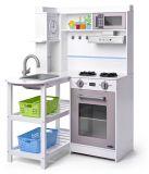 WOODY Rohová kuchyňka s plastovými koši, bílá