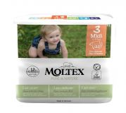 MOLTEX Plenky Pure & Nature Midi 4-9 kg  (33 ks)