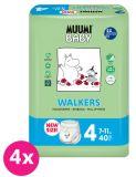 MUUMI Baby Walkers Maxi size 4 (7-11 kg) 160 szt. ZAPAS NA MIESIĄC – pieluchy jednorazowe