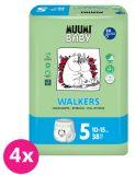 MUUMI Baby Walkers Maxi+ size 5 (10-15 kg) 152 szt. ZAPAS NA MIESIĄC – pieluchy jednorazowe