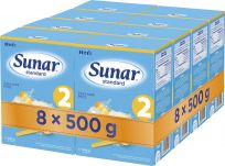 8x SUNAR Standard 2 (500g) – kojenecké mléko