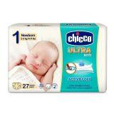 CHICCO Chicco Ultra Newborn (2-5 kg) 27 ks - jednorázové pleny